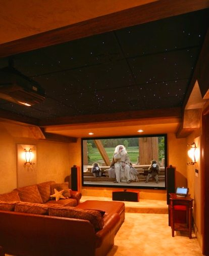 Cozy Home Theater: Deluxe Cozy Media Rooms For Winter Entertaining