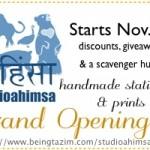 Studioahimsa Handmade Stationery Celebrates Grand-Opening with Specials!