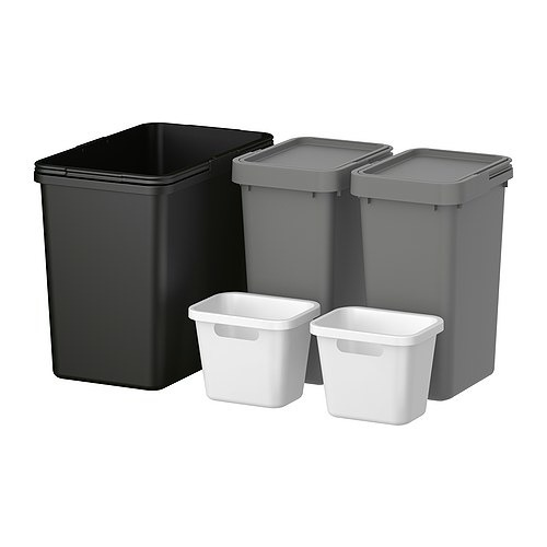 Best of ikea home organization products for Ikea trash cans