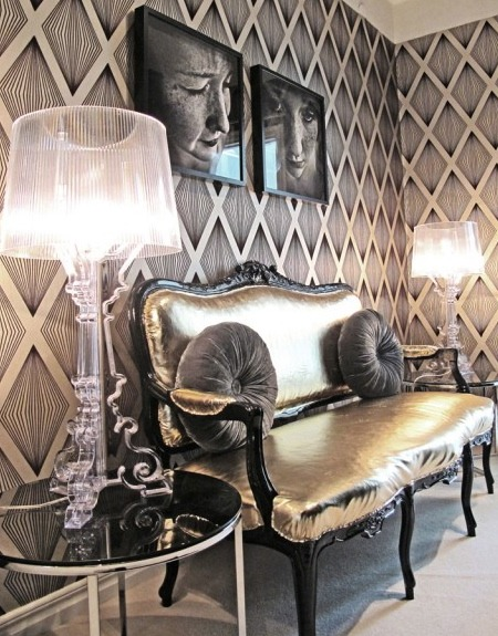 hollywood glamour bedroom d cor being tazim. Black Bedroom Furniture Sets. Home Design Ideas