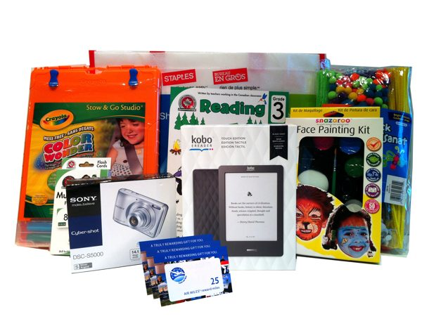 staples prize package