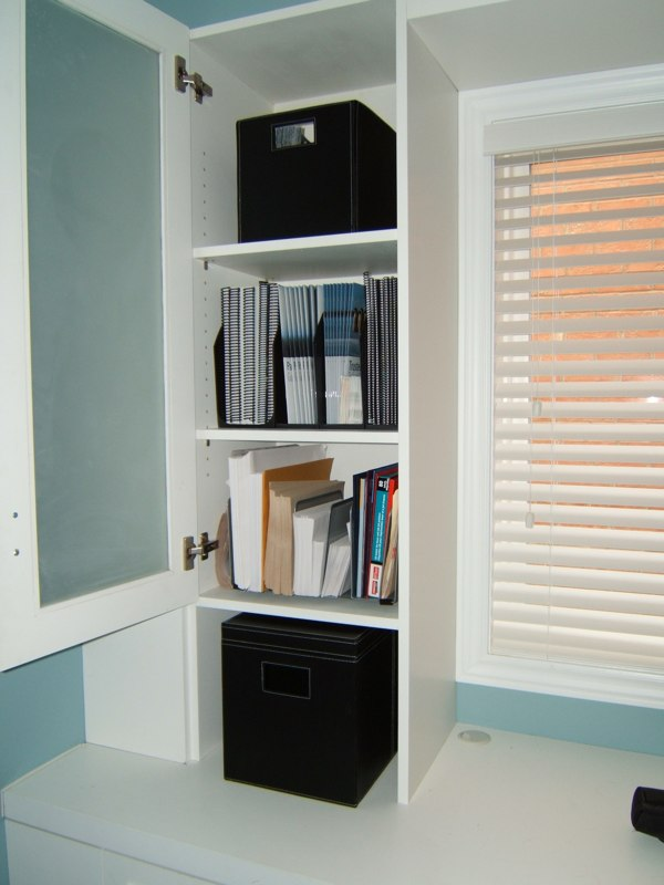 desk organized