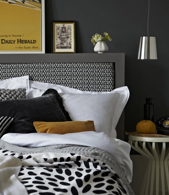 Heart home fall issue grey and yellow decor inspiration being tazim Grey home decor pinterest