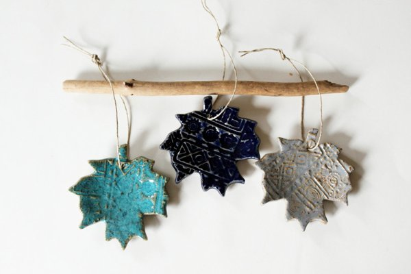 ceramic handmade leaves