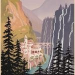 Visit the Elves Rivendell Travel by Steve Thomas Redbubble Print