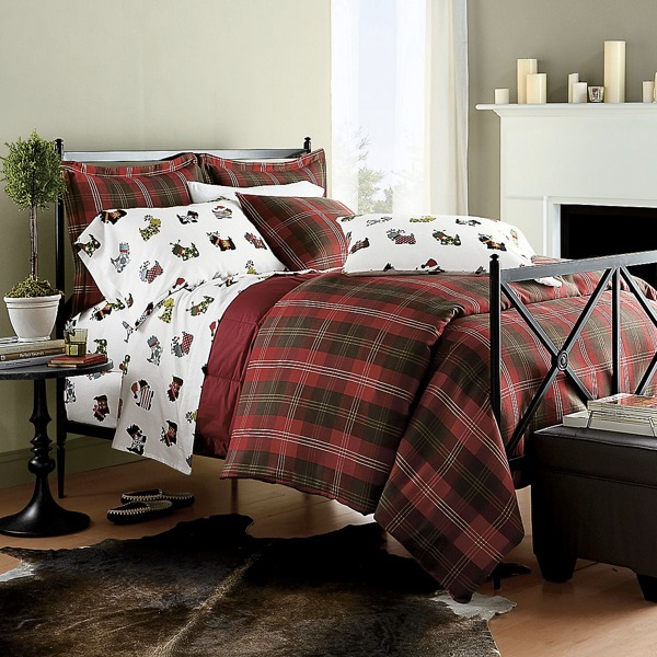 plaid comforter