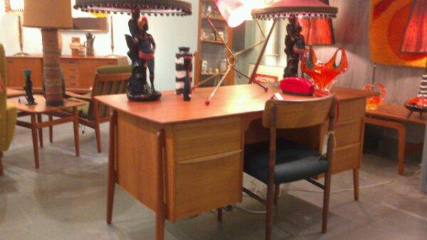 vintage modern mid century desk