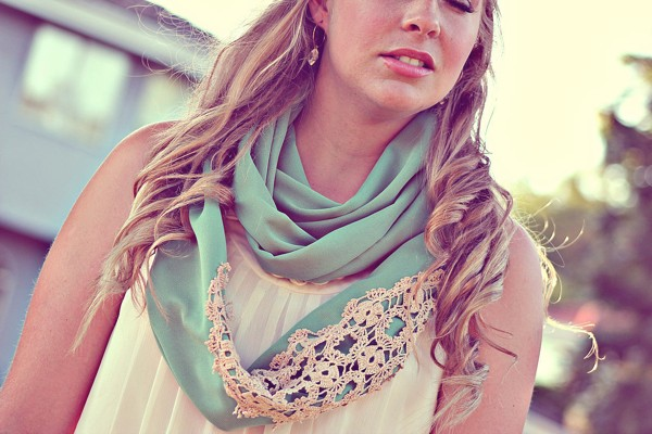 vintage lace wedding scarf