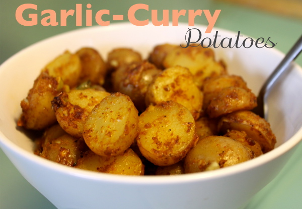Vegan Garlic Curry Potatoes Recipe