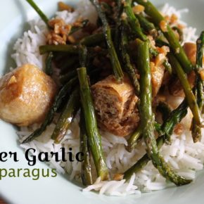 ginger garlic asparagus vegan
