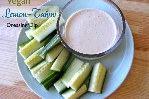 Vegan Lemon-Tahini Dressing Dip Recipe