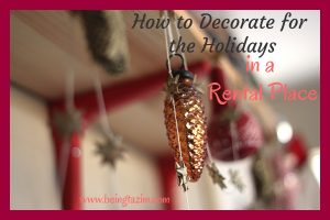 How to Decorate for the Holidays in a Rental Place PLUS #Giveaway $200 ARV