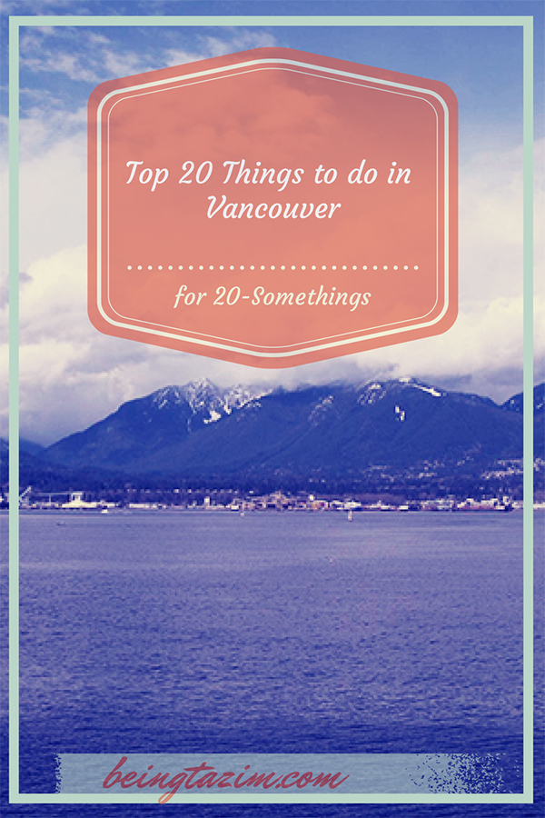 Vancouver Travel for 20-Somethings