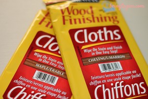 DIY minwax wood finishing project