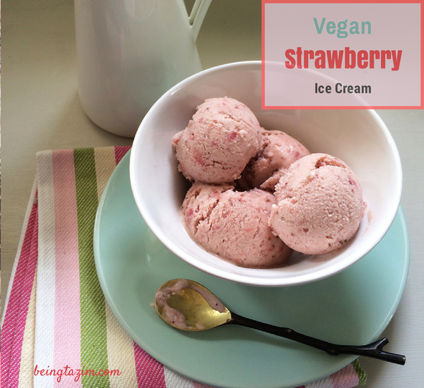 vegan strawberry ice cream