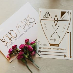 Boho Marks Metallic Temporary Tattoos Giveaway Open Worldwide