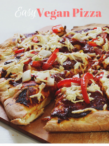 Easy Vegan Pizza and Sauce from Scratch