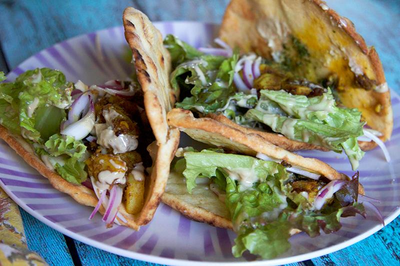 Tandoori Potato Naan Wraps
