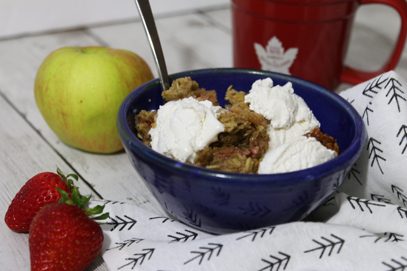 Strawberry Apple Crumble