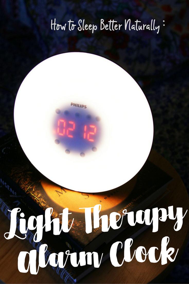Light therapy alarm clock