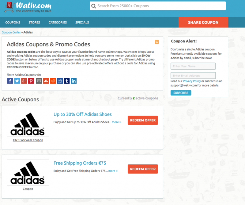 Finding adidas promo codes