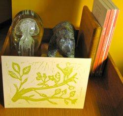 Golden Bird Card