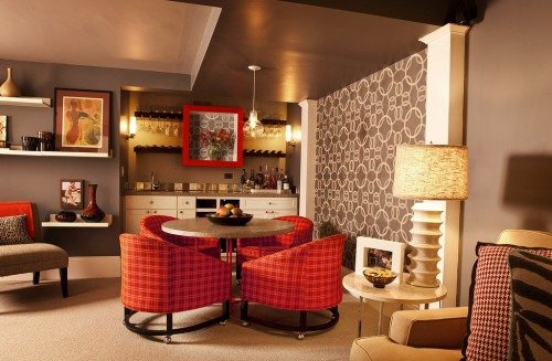 via Garrison Hullinger Interior Design. Dining Room 1970s lighting