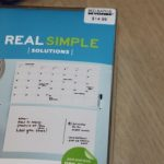 Real Simple Peel & Stick Wall Calendar for Organization