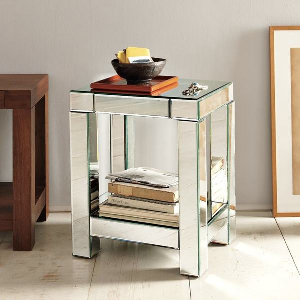 mirror end table