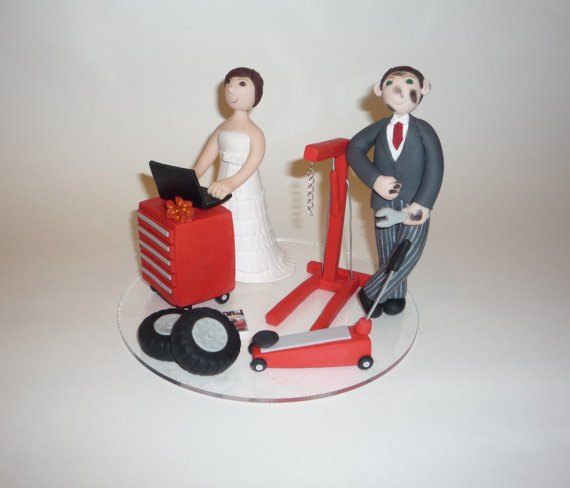 mechanic wedding cake toppers personalized handmade wedding cake toppers being tazim 17250