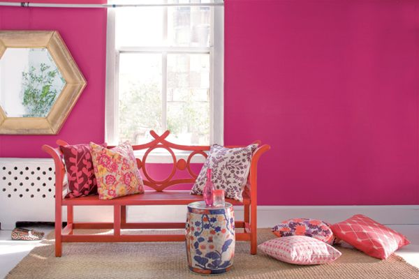 Pink room. Spring Colour Trend   Pantone Cabaret Hot Pink   Being Tazim