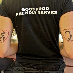waiter tattoo
