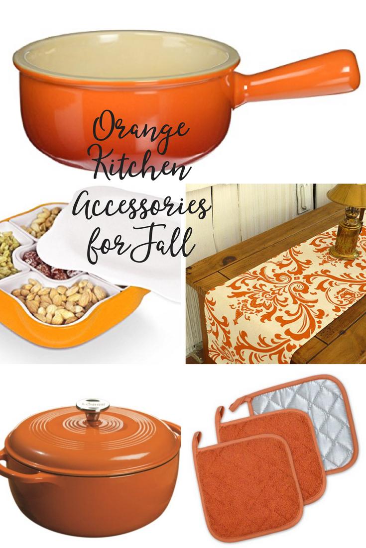 Orange Kitchen Accessories for Fall