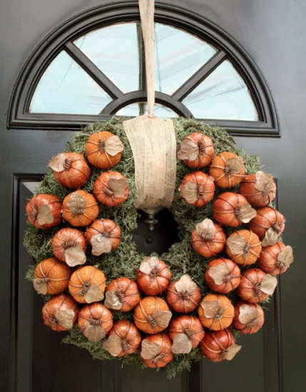fall wreath DIY ideas for decor
