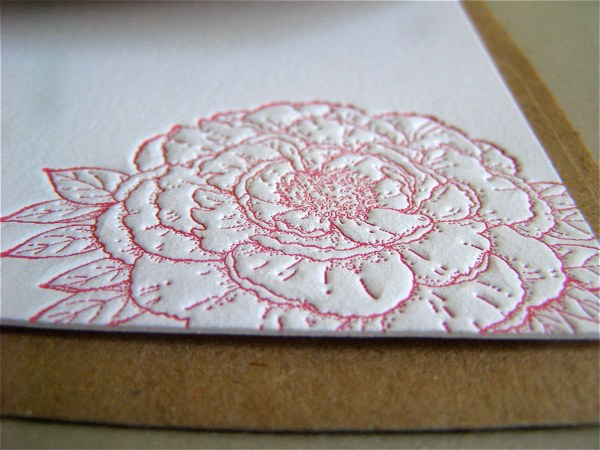 letterpress notecard