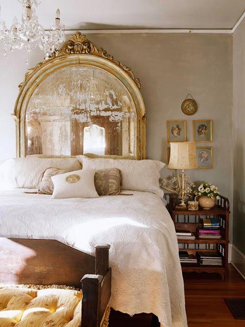 gilded antiqued mirror