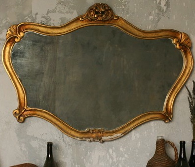 antiqued mirror vintage