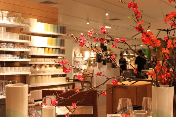 crate and barrel spring in Vancouver