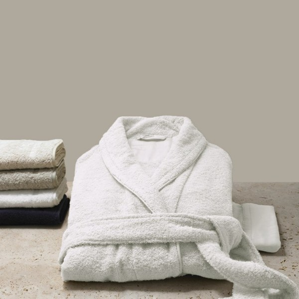 hotel luxury at home frette bathrobe
