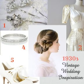 1930s vintage wedding inspiration
