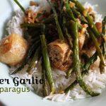 ginger garlic asparagus vegan