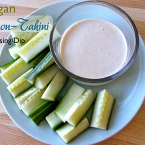 vegan lemon tahini dressing or dip recipe