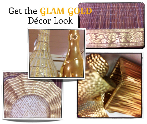 glam gold decor