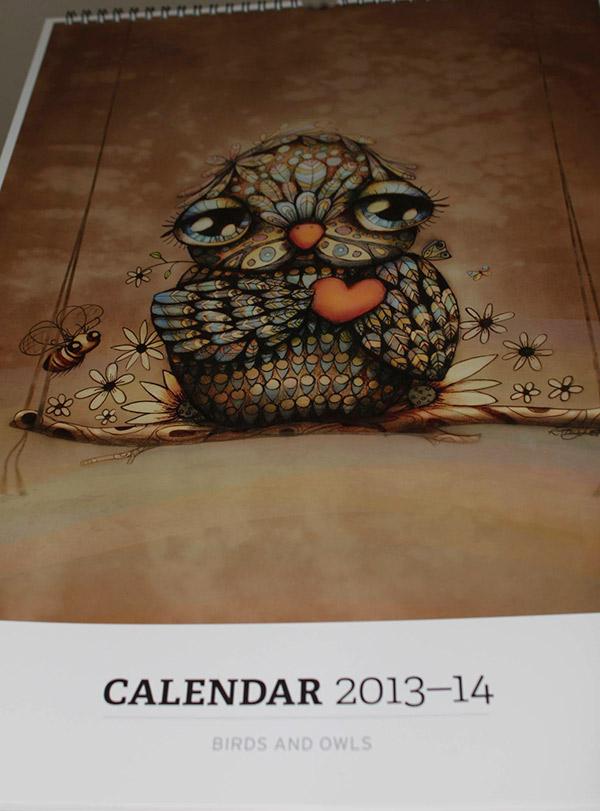 red bubble calendar