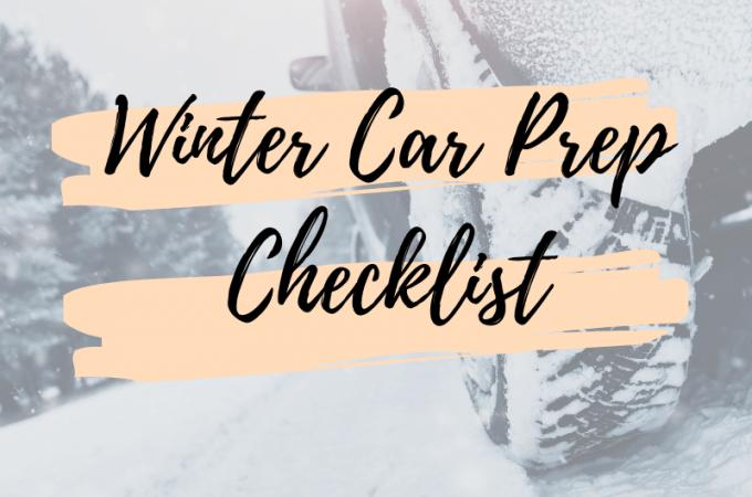 Winter Car Prep Checklist