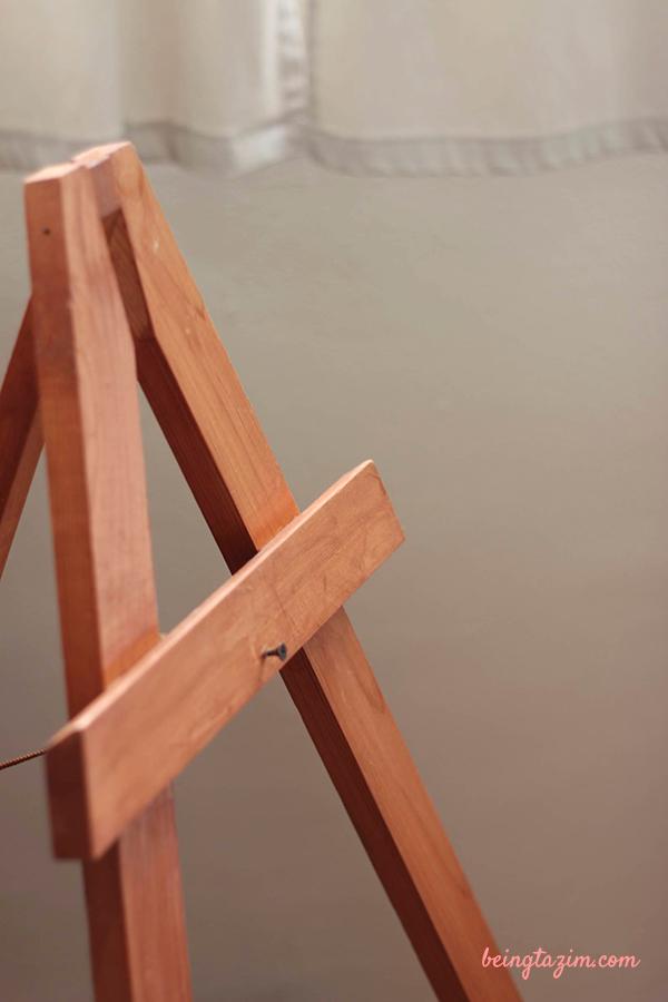 DIY minwax easel