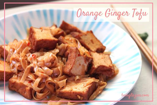 Orange Ginger Tofu