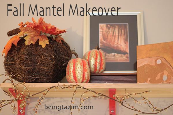 fall mantel makeover