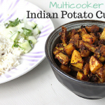 Multicooker Indian Potato Curry with Steamed Rice Recipe
