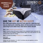Give the Gift of Better Sleep with the #DORMEOclaus Holiday Contest